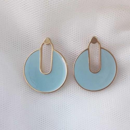 Σκουλαρίκια γαλάζιο χρώμα