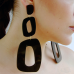 plexi glass μαύρα σκουλαρίκια