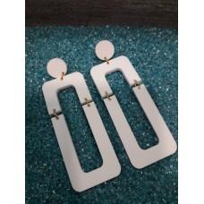 Σκουλαρίκια plexi glass άσπρα