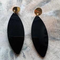 Σκουλαρίκια  plexi glass οβαλ