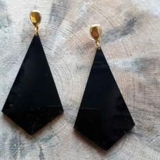 Σκουλαρίκια  plexi glass τρίγωνα