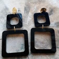 Σκουλαρίκια  plexi glass τετράγωνα