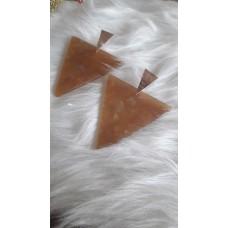 Σκουλαρίκια  τρίγωνα plexi glass